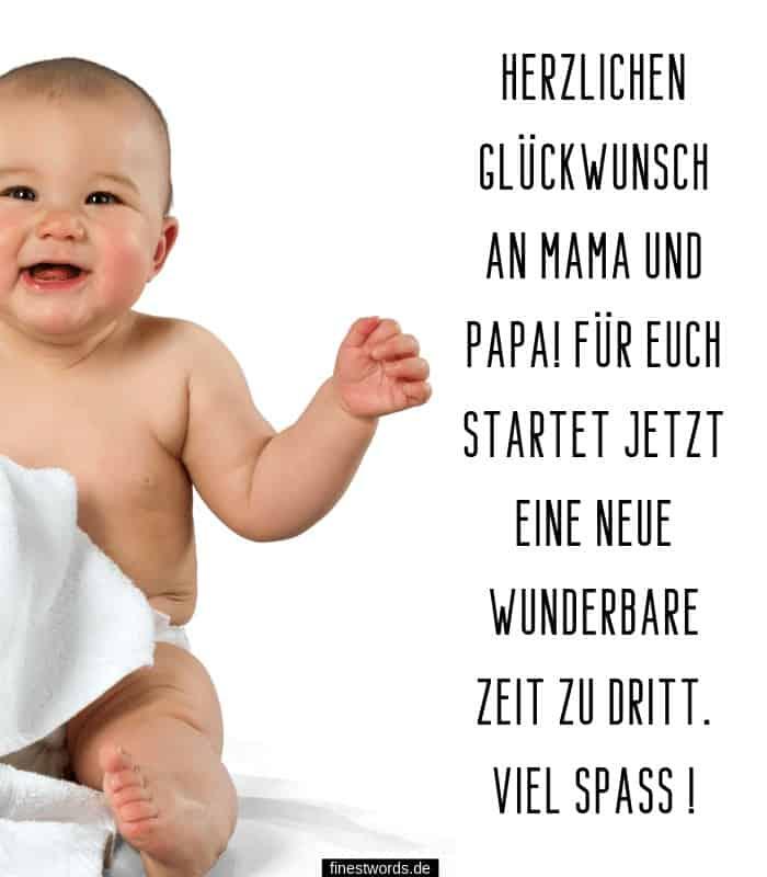 Glückwünsche zur Geburt Junge