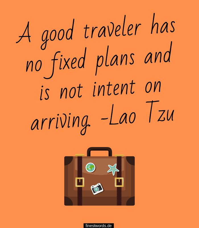 Spruch über Reisen