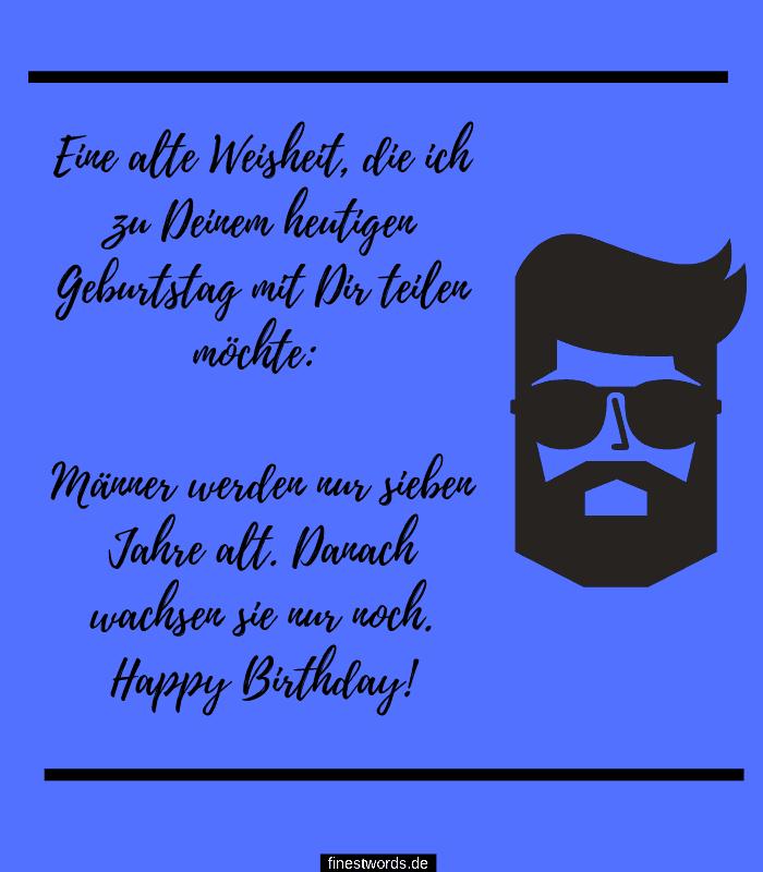 kurze Geburtstagswünsche für Männer
