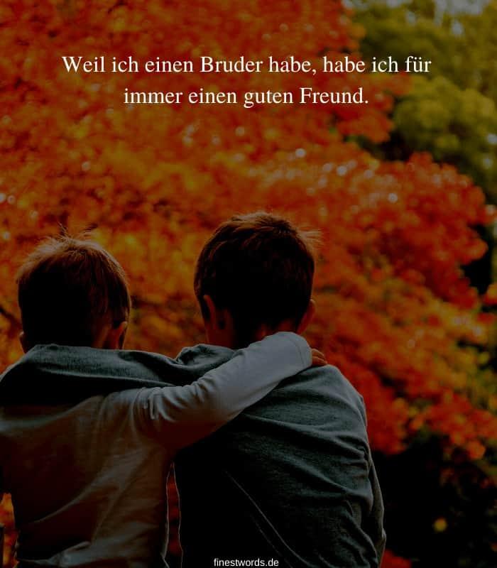 Weil ich einen Bruder habe, habe ich für immer einen guten Freund.