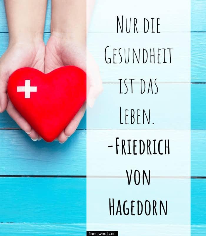 Nur die Gesundheit ist das Leben. -Friedrich von Hagedorn