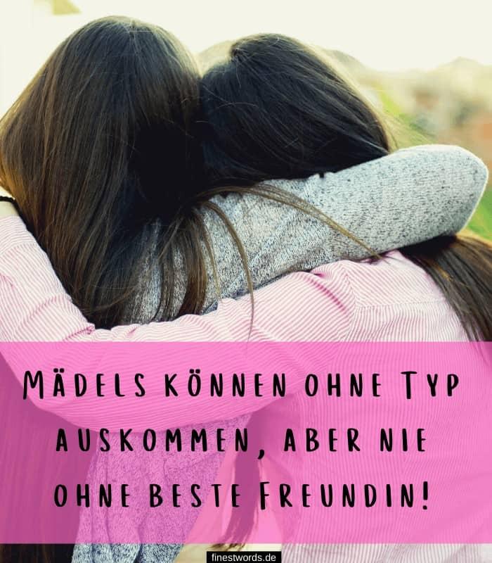 Mädels können ohne Typ auskommen, aber nie ohne beste Freundin!