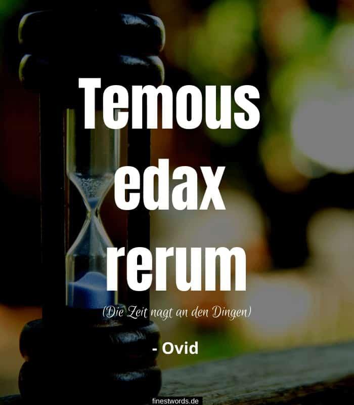 Temous edax rerum - Die Zeit nagt an den Dingen - Ovid