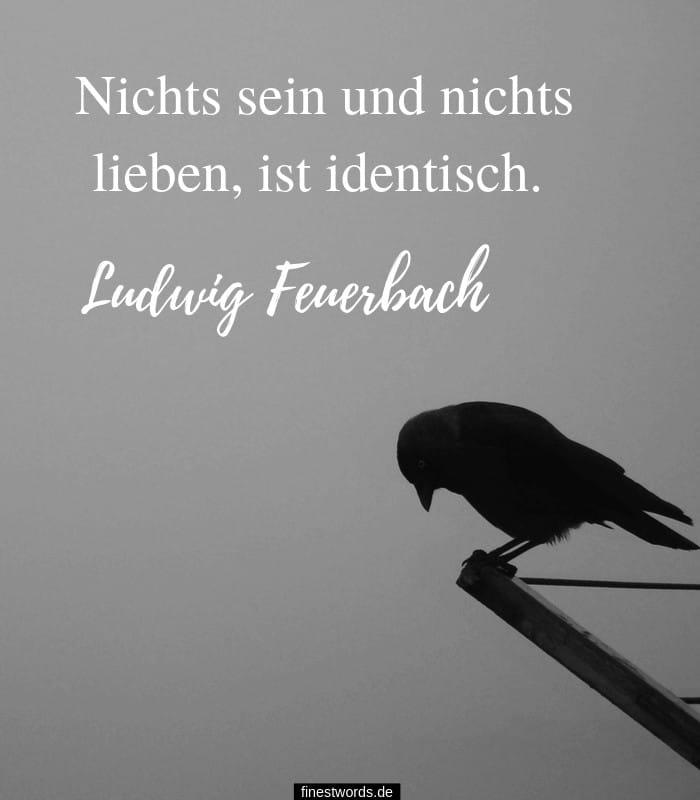 Nichts sein und nichts lieben, ist identisch. -Ludwig Feuerbach