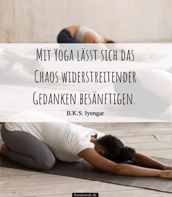 Mit Yoga lässt sich das Chaos widerstreitender Gedanken besänftigen. B.K.S. Iyengar