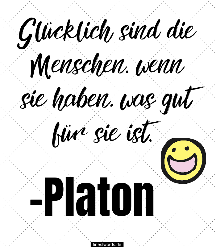 Glücklich sind die Menschen, wenn sie haben, was gut für sie ist. -Platon