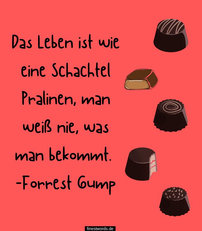Das Leben ist wie eine Schachtel Pralinen, man weiß nie, was man bekommt. -Forrest Gump