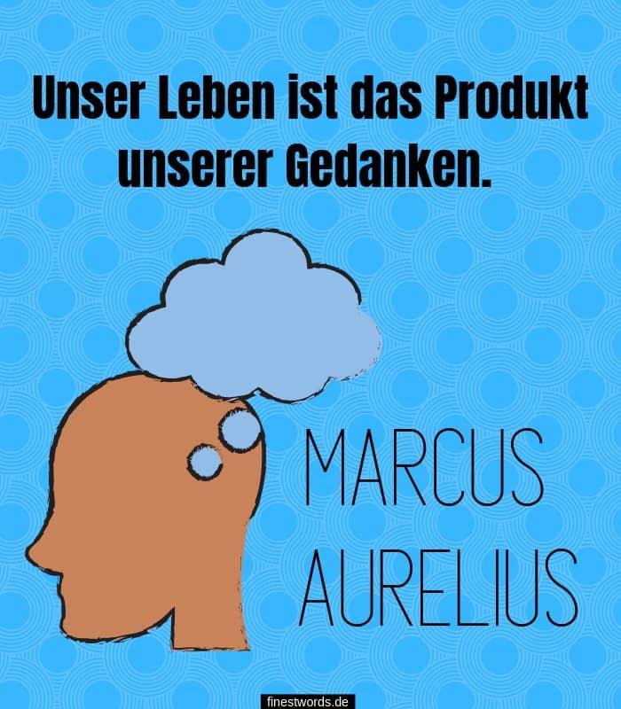 Unser Leben ist das Produkt unserer Gedanken. -Marcus Aurelius