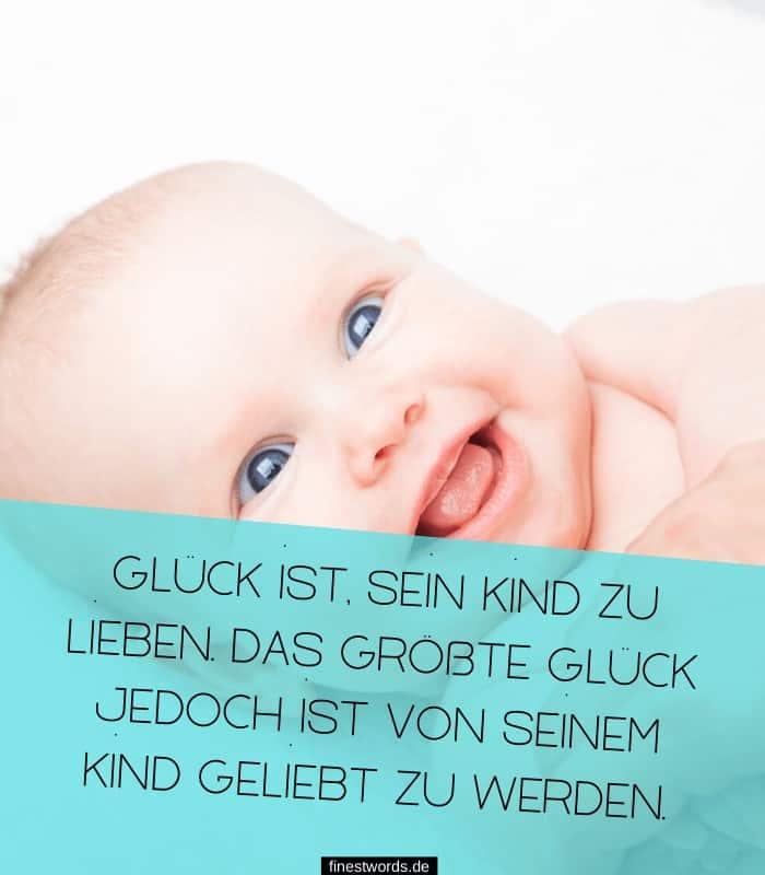 Glück ist, sein Kind zu lieben. Das größte Glück jedoch ist von seinem Kind geliebt zu werden.