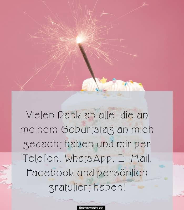 Vielen Dank Geburtstagswünsche