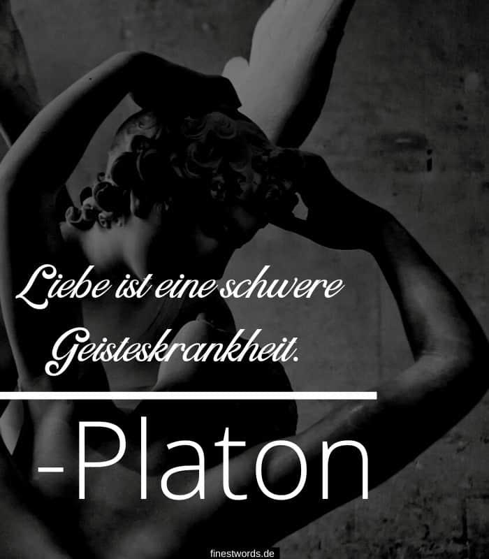 Liebe ist eine schwere Geisteskrankheit. -Platon