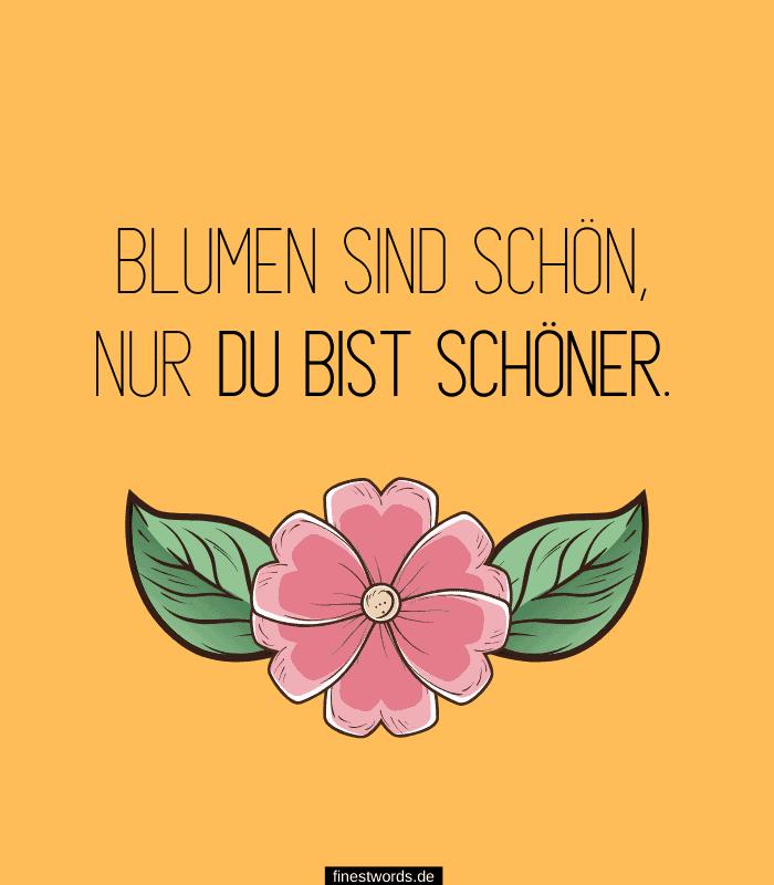 Blumen sind schön, nur du bist schöner.