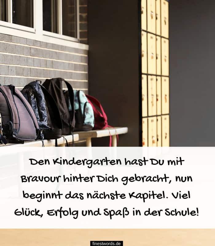 Den Kindergarten hast Du mit Bravour hinter Dich gebracht, nun beginnt das nächste Kapitel. Viel Glück, Erfolg und Spaß in der Schule!
