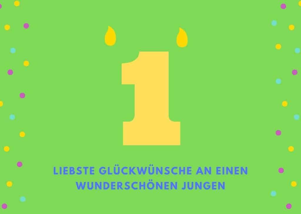 Glückwünsche zum 1. Geburtstag für Jungen