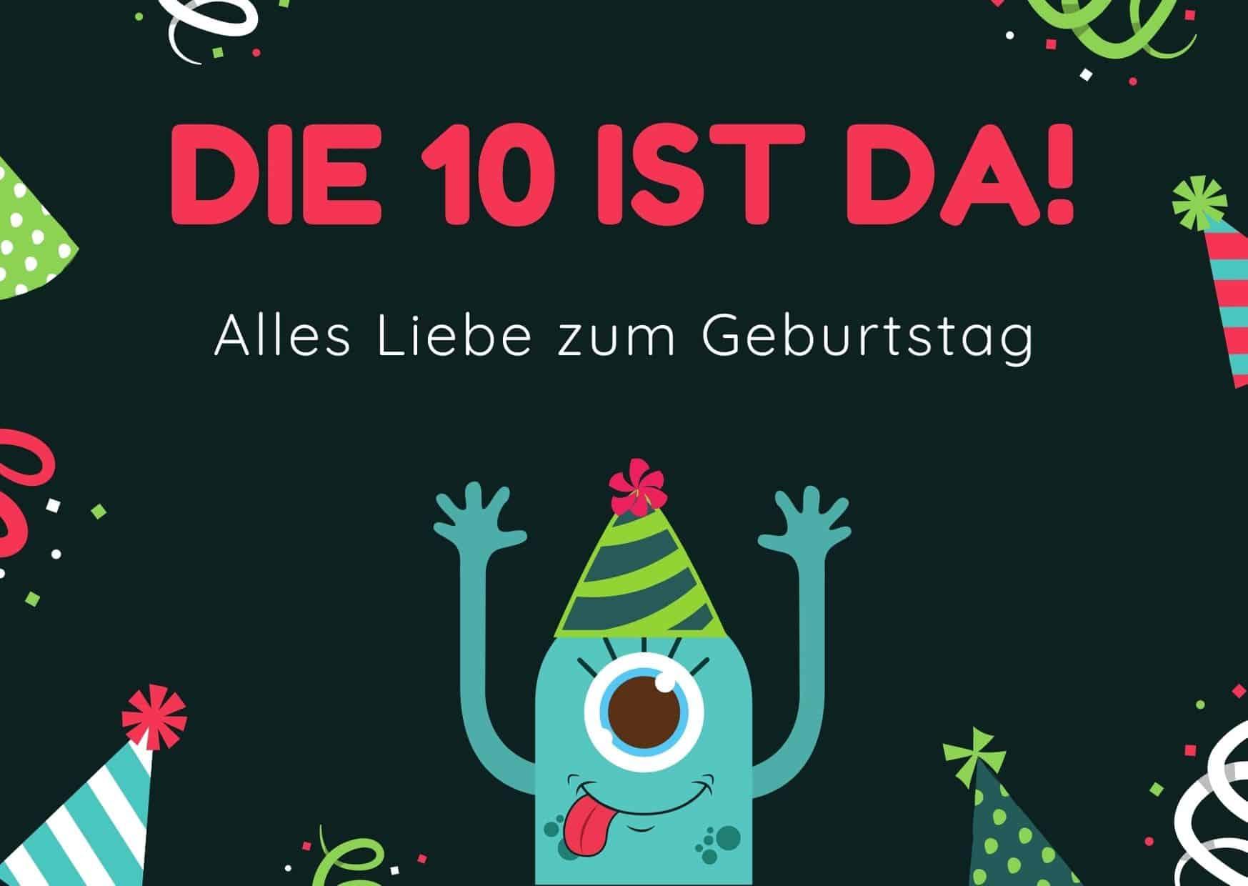Glückwünsche zum 10. Geburtstag für das Patenkind