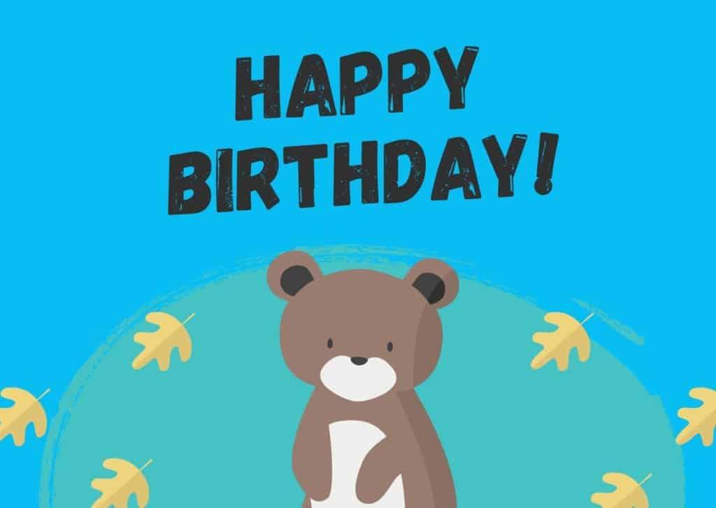 Geburtstagskarte 3. Geburtstag