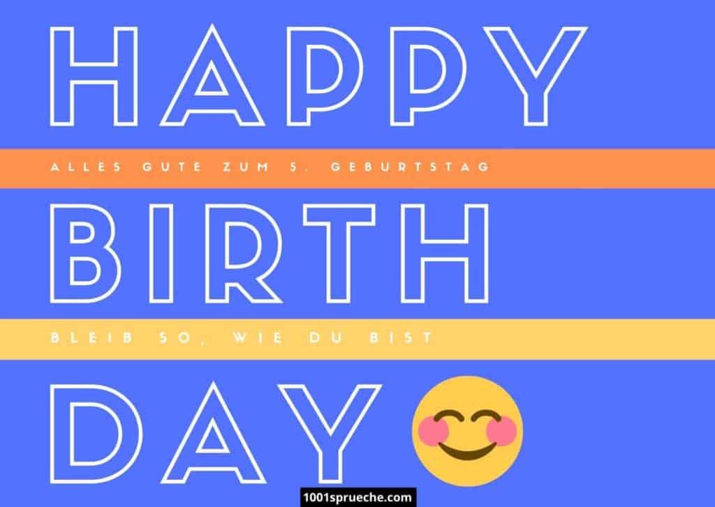 Glückwünsche zum 5. Geburtstag für Jungen