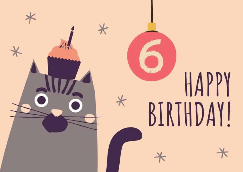 Glückwünsche zum 6. Geburtstag für das Patenkind