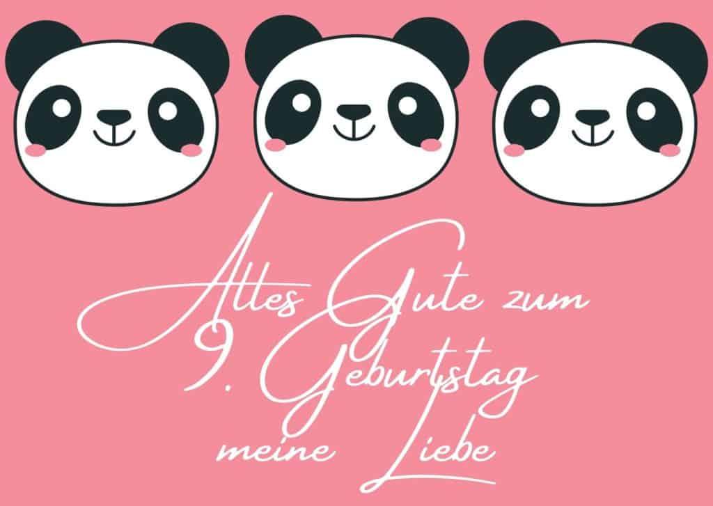 Glückwünsche zum 9. Geburtstag für Mädchen