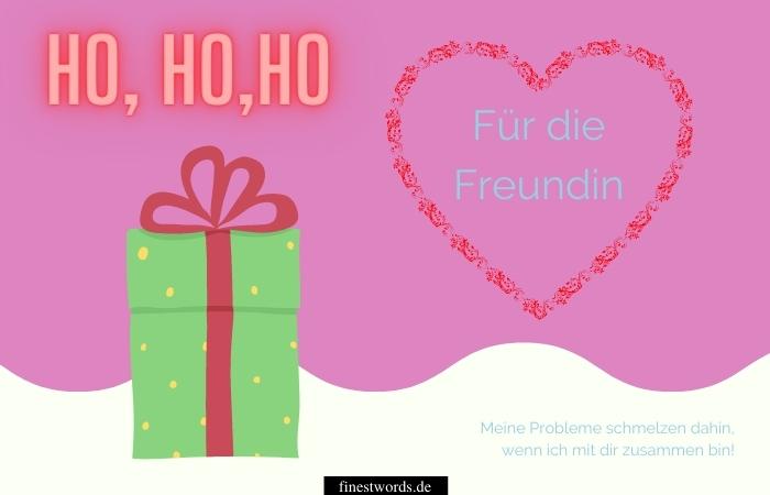 Weihnachtswünsche für die Freundin