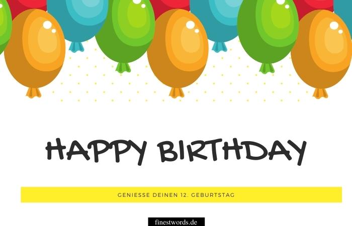 Geburtstagskarte zum 12. Geburtstag