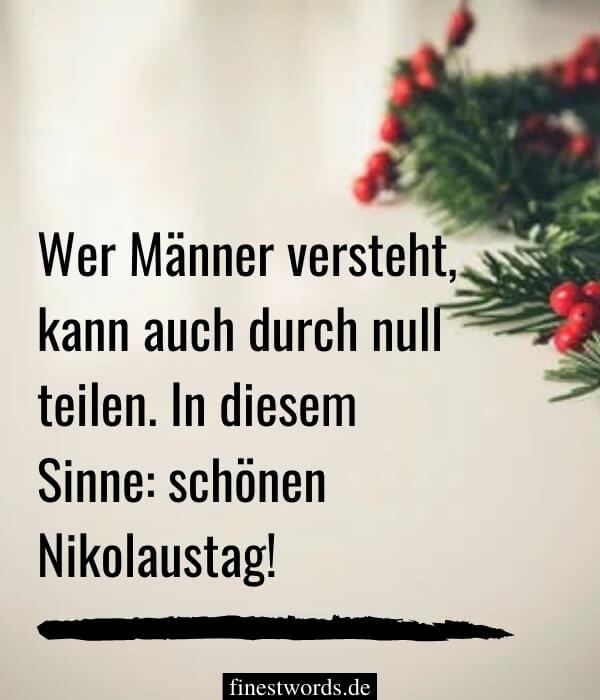 Nikolausgrüße für Männer