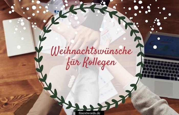 Weihnachtswünsche für Kollegen
