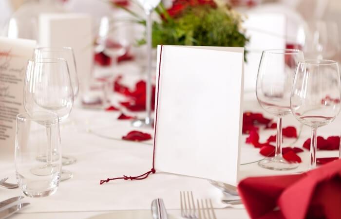Menükarten zur Hochzeit text