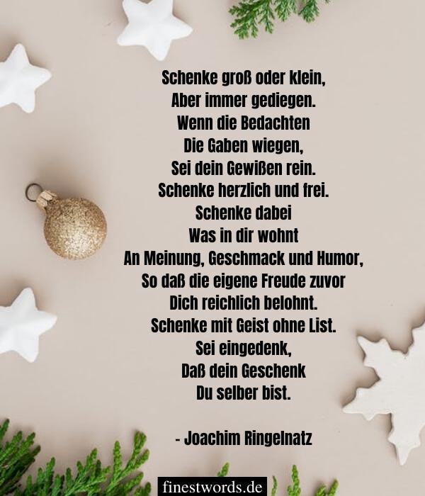 Besinnliche Weihnachtsgedichte für Erwachsene