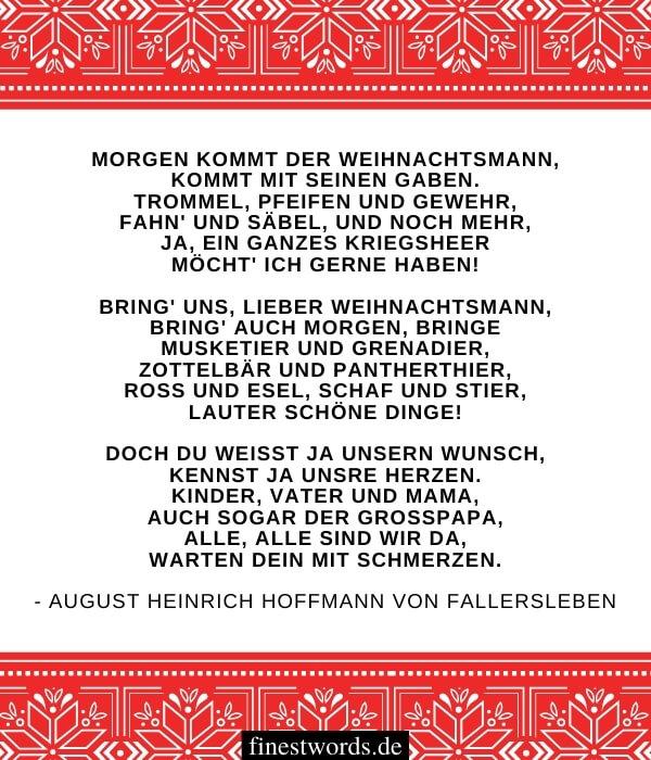 Besinnliche Weihnachtsgedichte für Karten