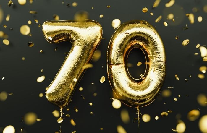 Sprüche zum 70. Geburtstag
