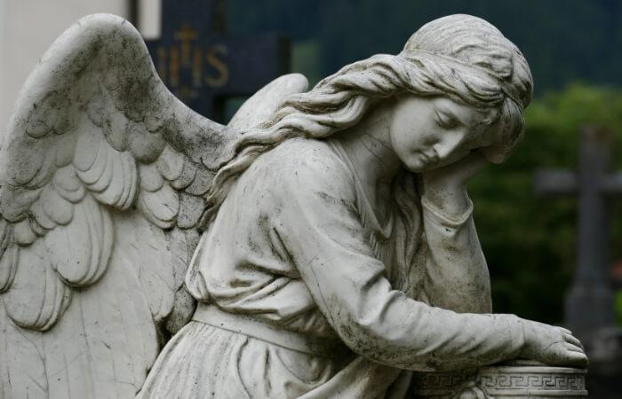 Trauersprüche mit Engeln