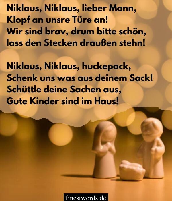 Weihnachtsgedichte für Kinder zum Aufsagen