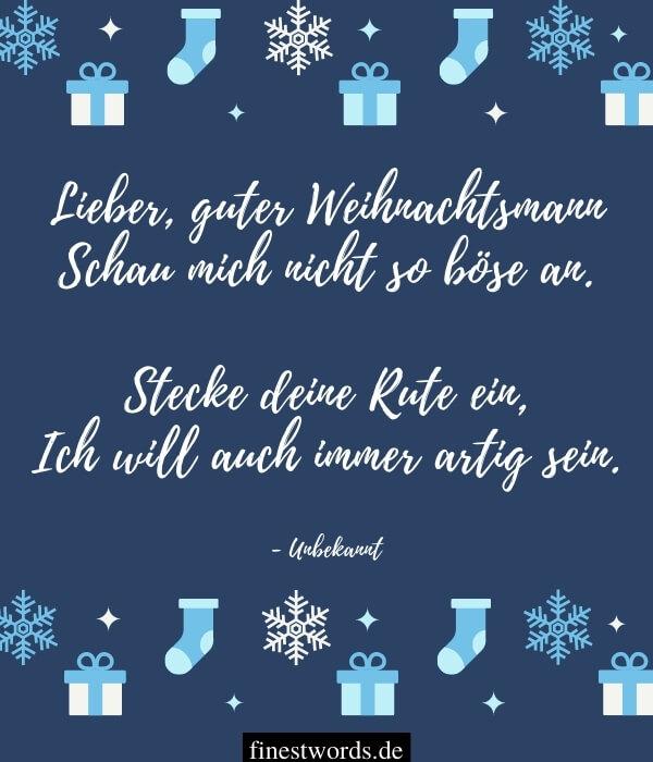 Kurze Weihnachtsgedichte für Kinder