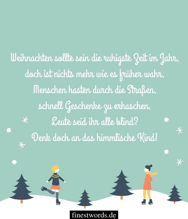 Moderne Weihnachtsgedichte für Kinder zum Vorlesen
