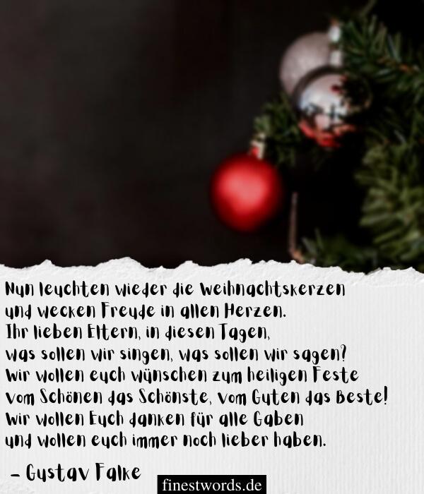 Weihnachtsgedichte zum Nachdenken für Erwachse