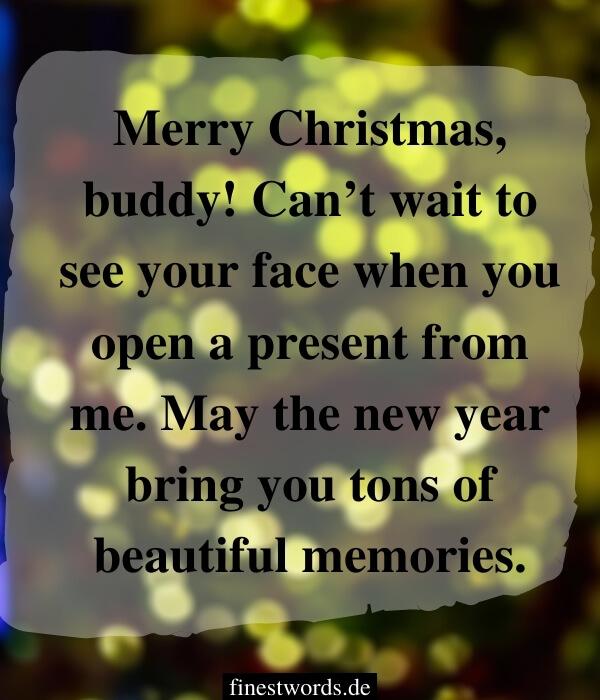 Weihnachtsgrüße für Freunde auf Englisch