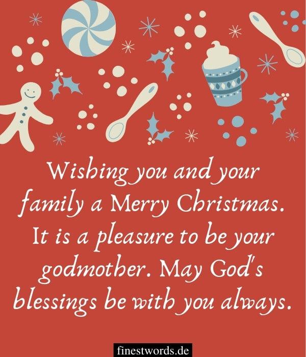 Weihnachtsgrüße auf Englisch für das Patenkind