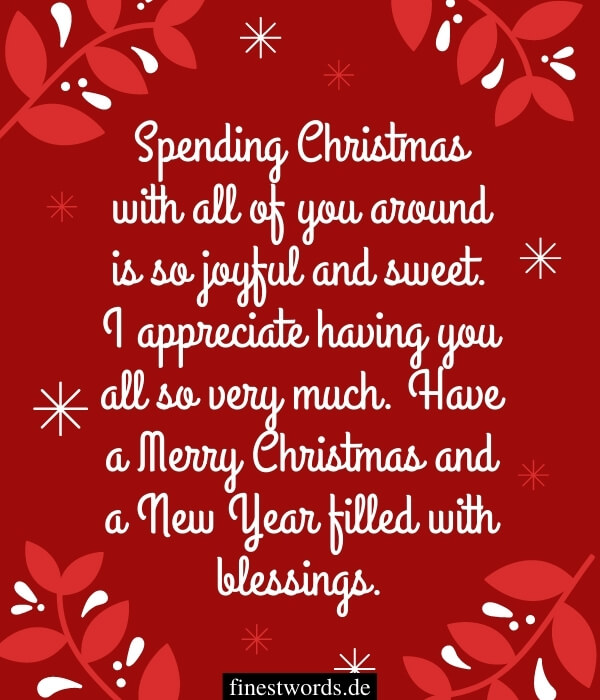 Weihnachtsgrüße auf Englisch für die Familie