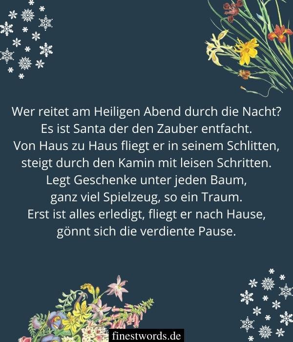 Weihnachtswünsche als Gedichte für Kinder