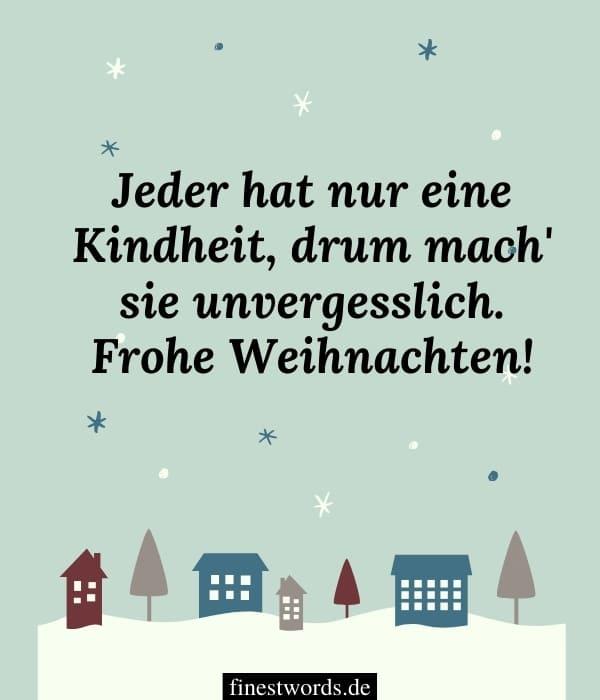 Liebe Weihnachtswünsche für Kinder