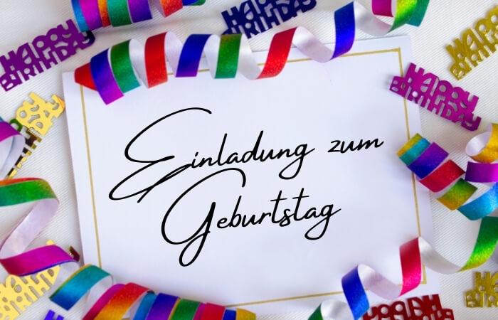 Geburtstagseinladungen schreiben