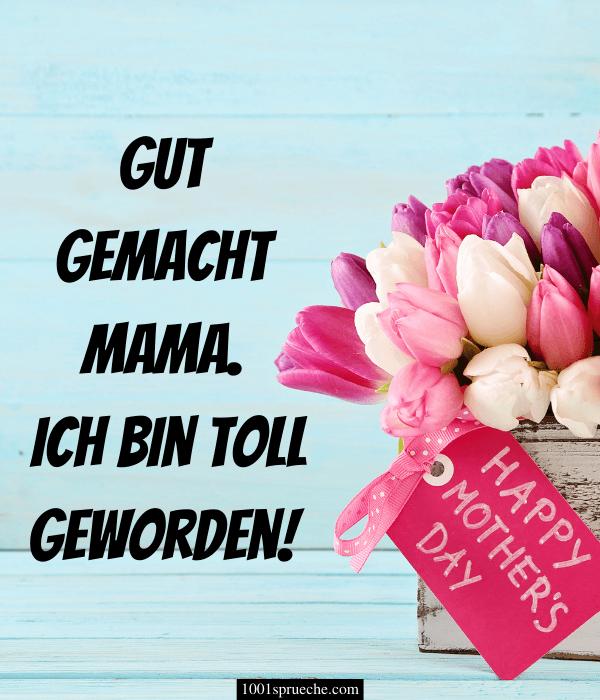 Muttertagssprüche für Karten: Bild zum Verschicken