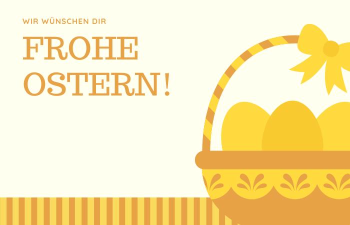 Osterkarte schreiben