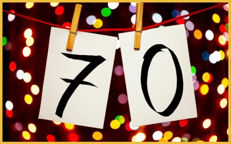 Sprüche für Einladungen zum 70. Geburtstag