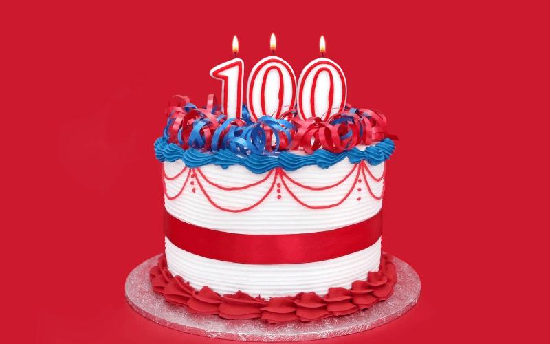 Glückwünsche zum 100. Geburtstag