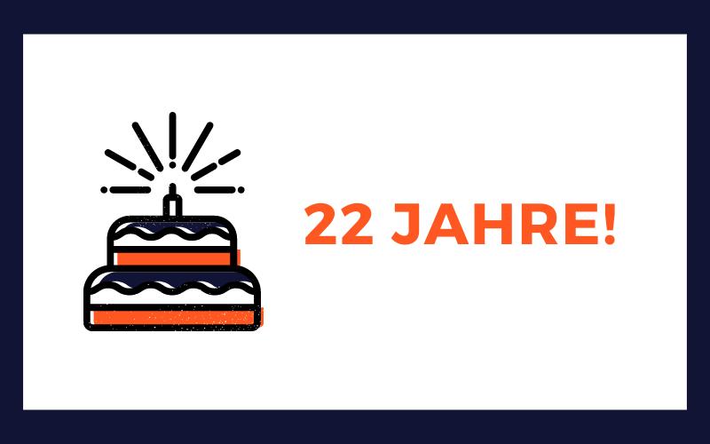 Glückwünsche zum 22. Geburtstag