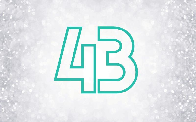 Glückwünsche zum 43. Geburtstag