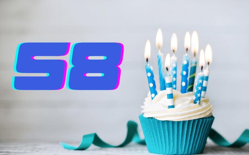 Glückwünsche zum 58. Geburtstag