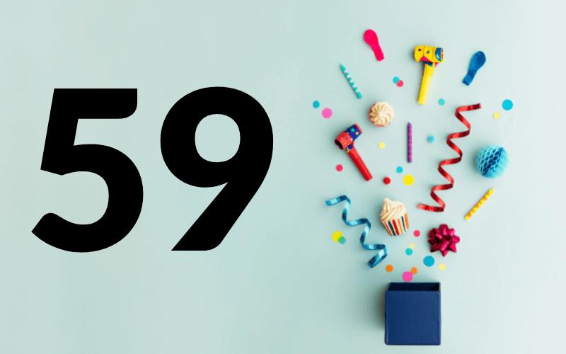 Glückwünsche zum 59. Geburtstag
